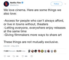 Kritik am Mitbewerbern - Netflix